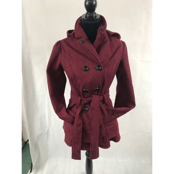 BSweet Maroon Coat Size M